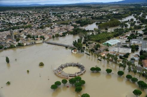 Le département de l' Aude est touché par de fortes inondations